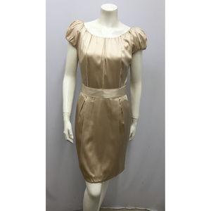 DOLCE & GABBANA Silk Champagne Dress SZ 44 S